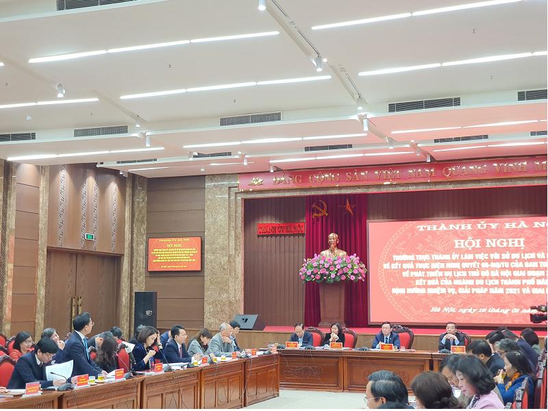 Toàn cảnh hội nghị báo cáo kết quả thực hiện Nghị quyết 06-NQ/TU